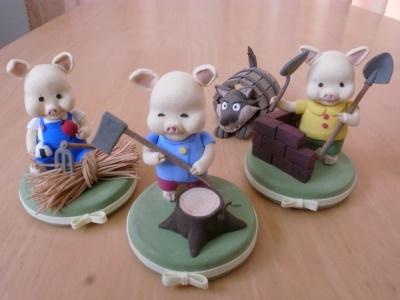 クレイクラフト 3匹の子豚と狼