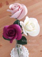 クレイクラフト体験レッスン ~ 茎付きのバラ