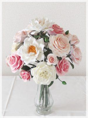 フラワーⅢカリキュラム 長い茎のバラのアレンジメント