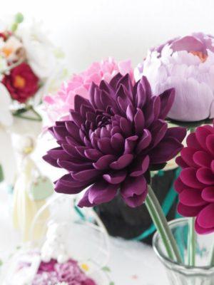 大輪の花 - ダリア / クレイクラフト - クレイフラワー