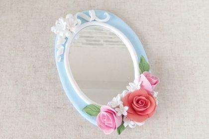 鏡のアレンジレッスン / 北九州市小倉クレイクラフト教室 Clay Craft* Decorocca