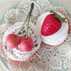 レッスン日和 ~ ふわふわホイップのフルーツカップケーキ