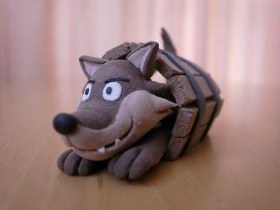 クレイクラフト 3匹の子豚 狼