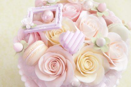 バラとチョコのクレイケーキ /クレイクラフト スイーツデコ