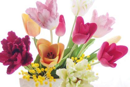 チューリップ 春のアレンジメント
